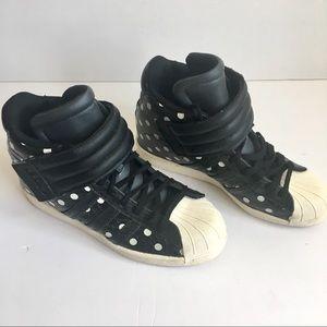 adidas Shoes - adidas Hidden Wedge Superstar Up Strap Hi-Top